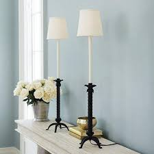 black and white buffet lamp