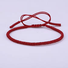 red bracelet thread images Tibetan religion buddhist lucky knots dark red nylon thread rope jpg