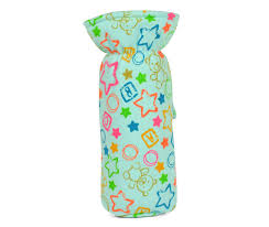 babys world embroidery bottle cover m aqua baby feeder cover