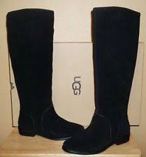 s ugg australia nubuck boots ugg australia cary s black nubuck leather pull on boots sz