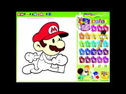 mario paint color games mario painting games mario