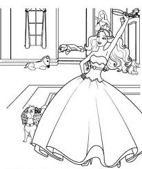 kids fun 3 coloring pages barbie princess