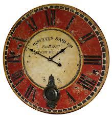 pendule de cuisine rouge trendy perla pd design mtal horloge