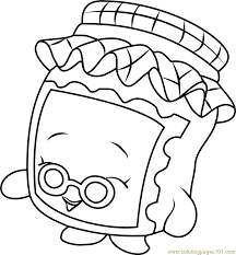 gran jam shopkins coloring free shopkins coloring pages