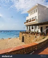beach house tamariu costa brava catalonia stock photo 103232777