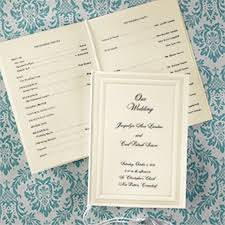 folded wedding program elite bridal and events home