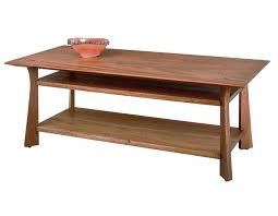waterfall coffee table wood waterfall coffee and end tables hardwood artisans handcrafted