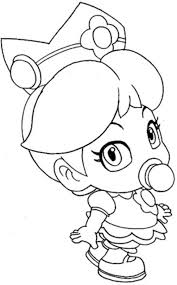 baby princess peach mario coloring pages baby coloring pages
