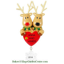 personalized ornaments reindeer