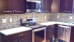 purple kitchen backsplash cherry cabinets mosaic backsplash traditional kitchen boston