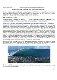 profecias cristianas para el 2016 profecia para venezuela profeta carlos moran