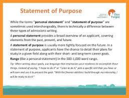 statement of purpose header format sop example