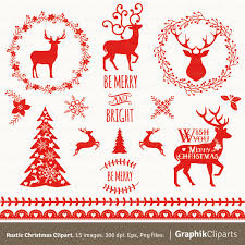 rustic christmas clipart vector christmas clipart