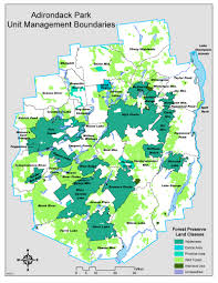 Adirondack Mountains Map Adirondack Park Unit Management Boundaries Nys Dept Of