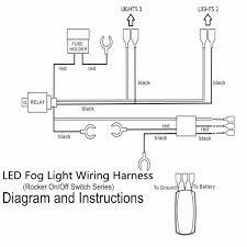 12v 40a led fog light wiring harness laser rocker switch relay