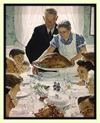 norman rockwell freedom from want american happy