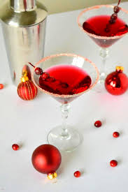 martini red frosted cranberry martinis