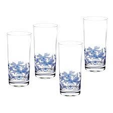 spode blue italian set of 4 highball glasses spode usa