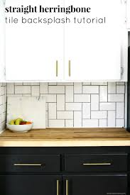 Tiles For Backsplash In Kitchen Straight Herringbone Tile Backsplash Tutorial Create Enjoy