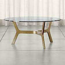 brass and glass end tables brass coffee tables crate and barrel