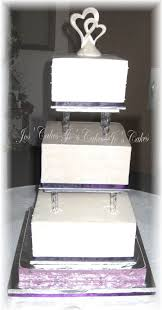 3 tier square wedding cake with pillars cakecentral com