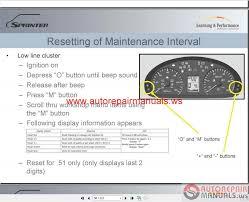 mercedes repair manuals mercedes sprinter 2010 repair manual auto repair manual