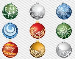 colorful ornaments clipart balls