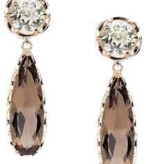 smoky quartz earrings tacori quartz 18k gold silver prasiolite smoky earrings tradesy