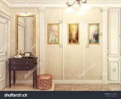 elegant classic luxurious hall interior design stock illustration
