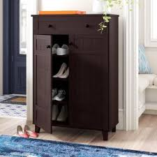 storage cabinets with doors and shelves shoe storage cabinets you ll love wayfair