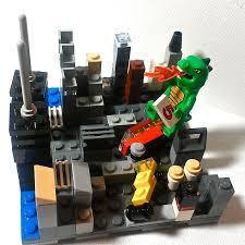 godzilla lego themed birthday cake topper