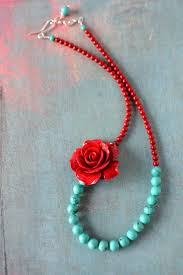 turquoise blue stone necklace images Reserved inspired by frida kahlo necklace with aqua blue turquoise jpg