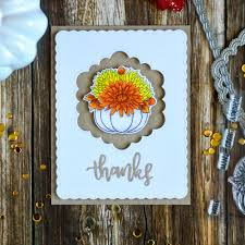 Quick Step Elevae Inked Oak Simple And Elegant Thanksgiving Card With Studio Katia Giving