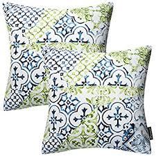 Cusion Cover Amazon Com Phantoscope New Living Blue U0026green Decorative Throw