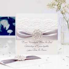 handmade silver wedding anniversary cards with the luxury touch