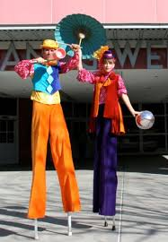 clown stilts juggling act stilt walker tight rope walker