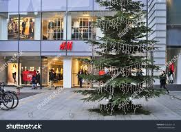 mainzgermanynov 25hm fashion store christmas tree stock photo