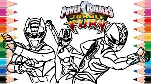 how to draw power rangers jungle fury coloring pages for kids