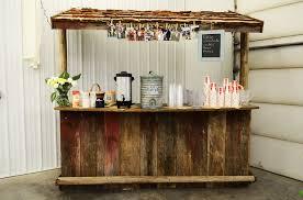 diy rustic wooden bar