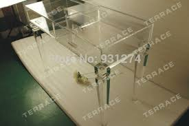 Acrylic Vanity Table Clear Acrylic Vanity Drawer Desk Clear Lucite Console Table In