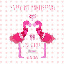 happy engagement card happy anniversary flamingo card by buttongirl designs