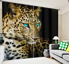 Leopard Print Curtains And Bedding Aliexpress Com Buy The Tiger And Leopard 3d Blackout Curtains