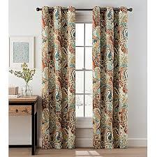 Paisley Curtains Paisley Grommet Top Window Curtain Panel Pair Bed Bath Beyond