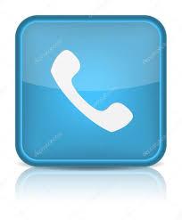 phone icon on blue button u2014 stock vector ankudi 17490339