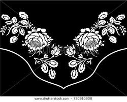 western ornament floral tshirt stock vector 730910908