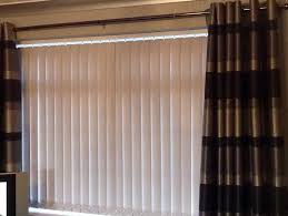 exellent vertical blinds and curtains together pictures best 2017
