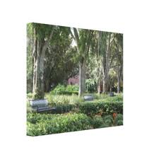 Benches In Park - park bench wrapped canvas prints zazzle