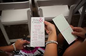how to make fan wedding programs facts about the and groom wedding tips and inspiration