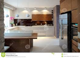 contemporary kitchen with chrome lights luxury modern kitchen