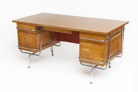 Mid Century Desk Mid Century Maple Desk With Chrome Tubular Frame By Kem Weber